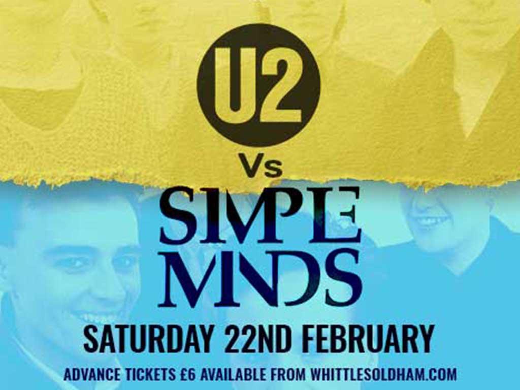 U2 SIMPLE MINDS TRIBUTE OLDHAM